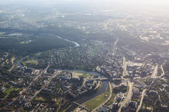 View of Vilnius from birds eye Royalty Free Stock Images