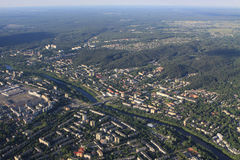 View of Vilnius from birds eye Royalty Free Stock Photo