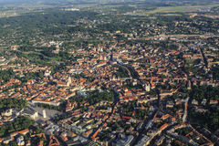 View of Vilnius from birds eye Stock Images