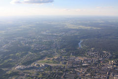 View of Vilnius from birds eye Royalty Free Stock Image