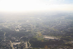 View of Vilnius from birds eye Stock Photo