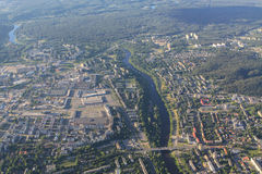 View of Vilnius from birds eye Royalty Free Stock Photography