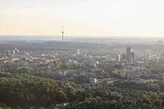 View of Vilnius from birds eye Stock Photography