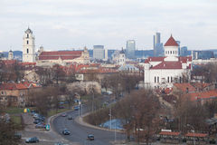 View of Vilnius. With Cathedral of the Theotokos and The Church of St. Johns, St. John the Baptist and St. John the Apostle and Evangelist Royalty Free Stock Photos