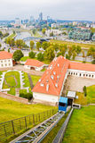 View of Vilnius from Gediminas hill. High up view of Vilnius from Gediminas hill royalty free stock photo