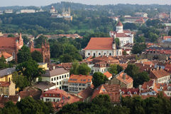View of Vilnius old town, Lithuania Stock Photo