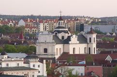 View of Vilnius old town, Lithuania Stock Image