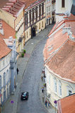 View of Vilnius old town street Royalty Free Stock Photography