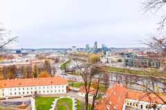 View of Vilnius and the River Neris Royalty Free Stock Photography