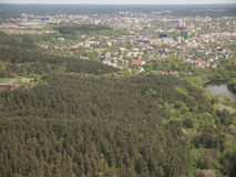 View from Vilnius TV tower (Lithuania) Royalty Free Stock Photos
