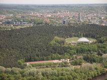 View from Vilnius TV tower (Lithuania) Royalty Free Stock Image