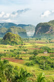 View of the Vinales Valley in Cuba on the early mo Royalty Free Stock Image