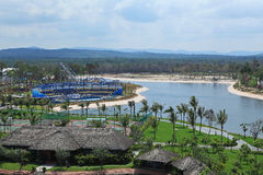 View of Vinpearl Phu Quoc resort, a project by Vingroup corporation Royalty Free Stock Photos