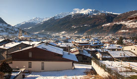 View of the vintage Bormio Royalty Free Stock Photography