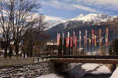 View of the vintage Bormio Royalty Free Stock Images