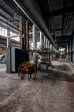 Vintage Metal Carts - Derelict Coal Power Plant - Abandoned Indiana Army Ammunition Depot - Indiana stock image