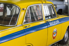 View of vintage soviet police car Royalty Free Stock Image