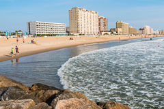 View of Virginia Beach Boardwalk Hotels and Beach Royalty Free Stock Photos
