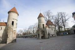 View of Viru Gates, Tallinn, Estonia, Europe Stock Image