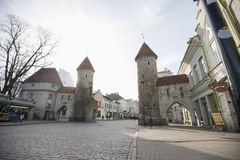 View of Viru Gates, Tallinn, Estonia, Europe Stock Photo