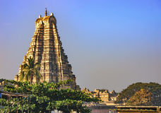 View of the Virupaksha temple from Hampi, India. Royalty Free Stock Photos