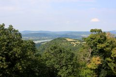 View of Visegrad, Hungary. View from Visegrad citadel castle in Hungary Royalty Free Stock Images