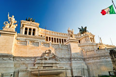 View of the Vittoriano building on the Piazza Venezia, Rome Royalty Free Stock Photo