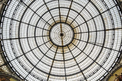 View of vittorio emanuele gallery in milan, italy Royalty Free Stock Images