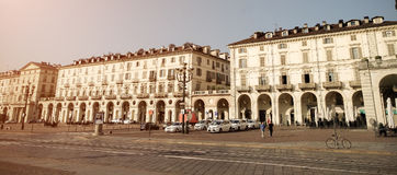 View of  Vittorio Veneto Square in Turin - Italy Royalty Free Stock Images