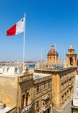View from the Vittoriosa. Malta Grand harbor Stock Photos