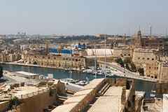 View from the Vittoriosa. Malta Grand harbor Royalty Free Stock Image