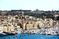 View of Vittoriosa from Valletta. View towards Vittoriosa seen from Valletta, Valletta, Malta, Europe Royalty Free Stock Image