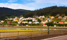 View of Viveiro with river. Lugo Royalty Free Stock Image