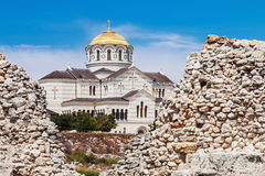 View of Vladimir Cathedral in Tauric Chersonesos, Sevastopol cit Stock Photography