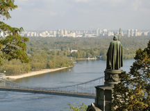 View from Vladimirskaya Hill in Kiev Stock Image