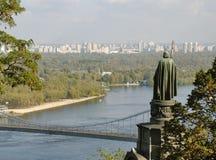View from Vladimirskaya Hill in Kiev. Monument St. Vladimir Stock Image