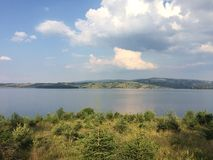 View on Vlasina lake in summer stock image