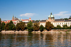 View of Vltava River Embankment, Prague Royalty Free Stock Photo