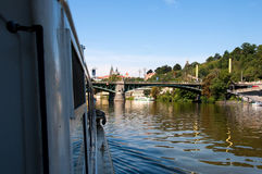 View of Vltava River Embankment, Prague Stock Photos