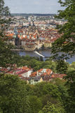 View of the Vltava River and the Old Town Square Stock Photo