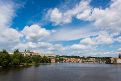 View of Vltava river Stock Photos