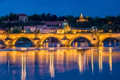 View of Vltava river in Prague Royalty Free Stock Photography