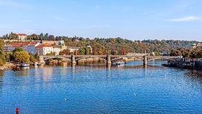 View on the Vltava River Royalty Free Stock Photography