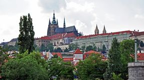 Prague Castle, the headquarters of the President. Czech Republic, Europe. stock image