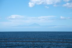 View on volcan Teide. View from Agaete on volcan Teide in Tenerife Stock Photography