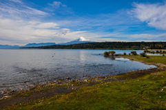 View of Volcan Villarrica from Villarrica itself, Chile Royalty Free Stock Images