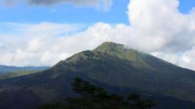 View of the volcanic caldera of Batur, in the Kintamani mountain region. Bali island, Indonesia royalty free stock photo