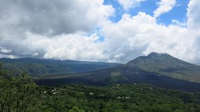 View of the volcanic caldera of Batur, in the Kintamani mountain region. Bali island, Indonesia royalty free stock images