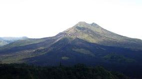 View of the volcanic caldera of Batur, in the Kintamani mountain region. Bali island, Indonesia stock photography