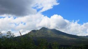 View of the volcanic caldera of Batur, in the Kintamani mountain region. Bali island, Indonesia royalty free stock photography